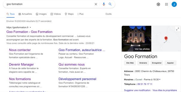recherche goo formation